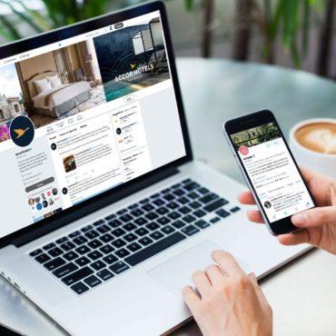 Twitter: comparatif de la présence d'Airbnb et d'Accor Hotels