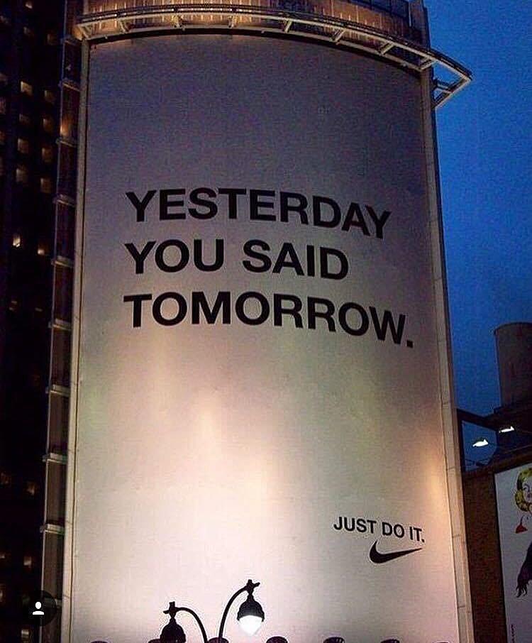 nike yesterday you said tomorrow