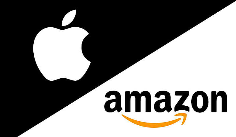 Amazon Apple jeff bezos steve jobs